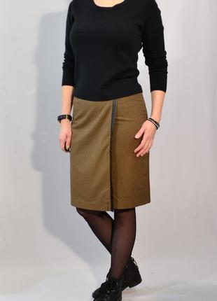 2768\70 коричневая юбка laura ashley m