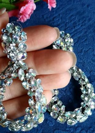 Серьги в стиле  zara  сережки камни кристалы