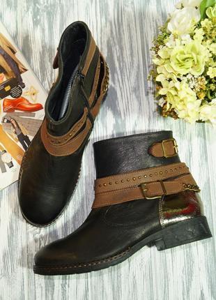 House of shoes. кожа. стильные ботинки на низком ходу