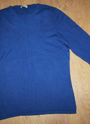 Кашемировый джемпер свитер синий cashmere 38-40р. 100% кашемир распродажа!