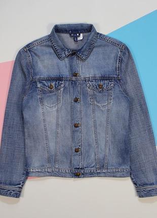Модная легкая джинсовка в классном раскрасе от h&m