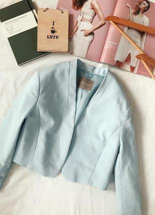 Пиджак, жакет, голубой пиджак, короткий пиджак, болеро,укорочённый пиджак
