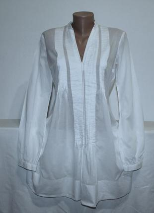 Натуральная блуза-туника полупрозрачная.