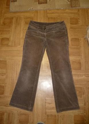 Микровельветовые фирменные штаны(джинсы) весна-осень,утягивают,невысокий рост1 фото