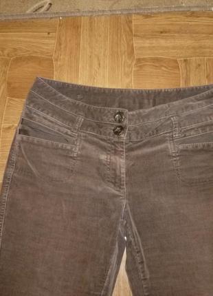 Микровельветовые фирменные штаны(джинсы) весна-осень,утягивают,невысокий рост3 фото