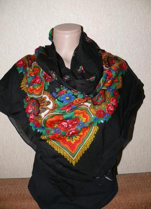 Платок павлопосадский шерстяной,большой