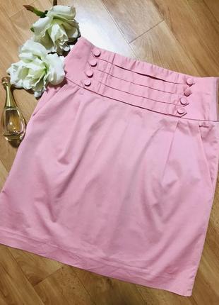 Шикарная розовая юбка карандаш миди marks&spenser