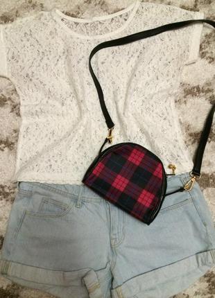 Фирменная кожаная сумка genuine leather(italy),яркая сумочка кросс-боди+подарок