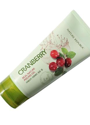 Корейская пилинг-скатка c клюквой nature republic real nature cranberry peeling gel