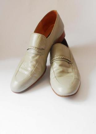 Италия! кожаные мужские туфли лоферы, р.44 код m4501