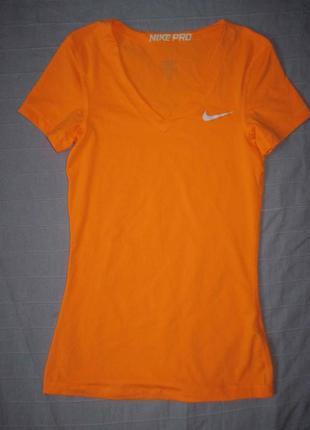Nike pro dri-fit (xs) спортивная футболка женская