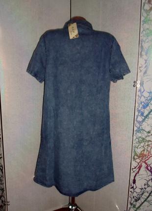 Джинсовое котоновое платье рубашка большие размеры2 фото