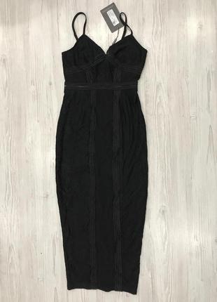 Кружевное платье миди на бретелях6 фото