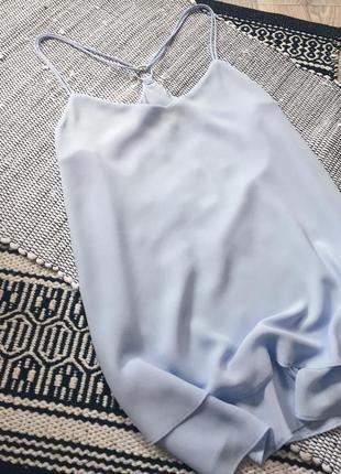 Двухслойный шифоновый голубой топ new look3 фото