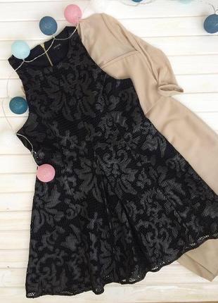 Шикарное чёрное платье river island