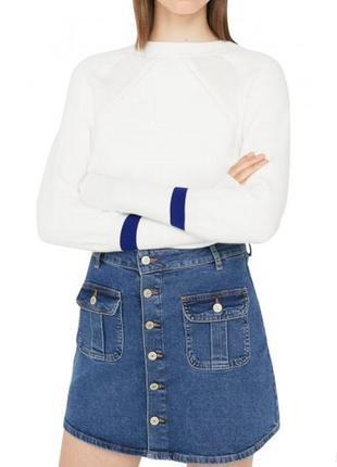 Трендовая джинсовая юбка на пуговицах papaya