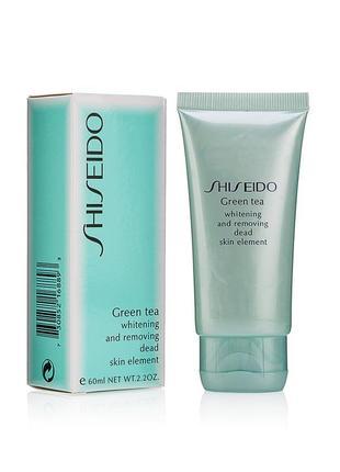 Пилинг скатка shiseido green tea 60 ml