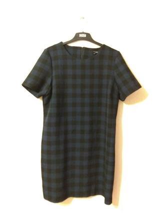 Базовое синее черное платье в клетку new look  размер 14-16 xl- xxl