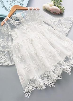 Платье кружевное шикарное гипюр
