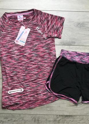 Акция!спорт комплект костюм набор с шортами, девочка, 14-16, польша