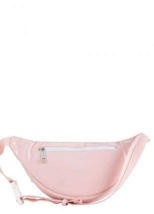 Розовая бананка поясна сумка италия карпиза4