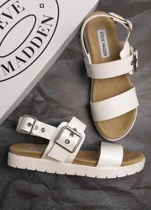 Steve madden оригинал белые сандалии