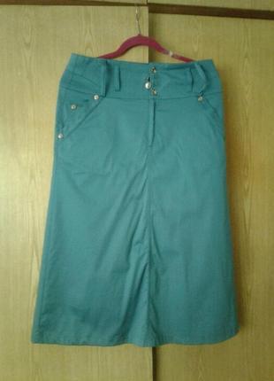 Катоновая шелковистая юбка, xl.
