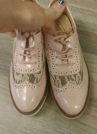 Туфли розовые ажурные