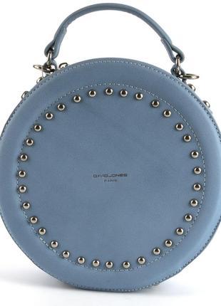 Круглый клатч, сумка через плечо david jones 3585 голубой4 фото