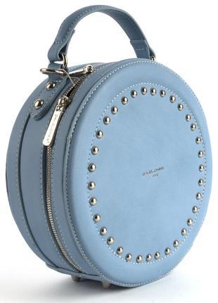Круглый клатч, сумка через плечо david jones 3585 голубой5 фото