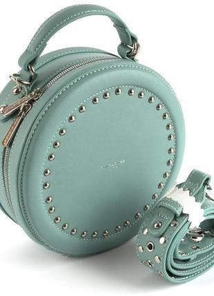 Круглый клатч, сумка через плечо david jones 3585 бирюза
