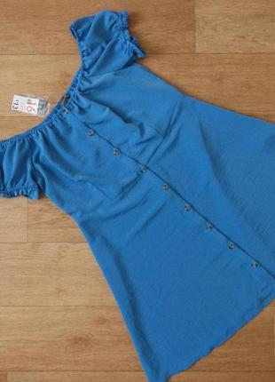 Красивое летнее платье с открытыми плечами primark -30%