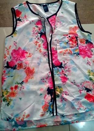 Цветочная блуза топ