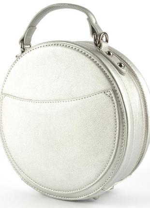 Круглый клатч, сумка через плечо david jones 3585 серебро6 фото