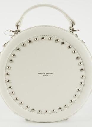 Круглый клатч, сумка через плечо david jones 3585 белый