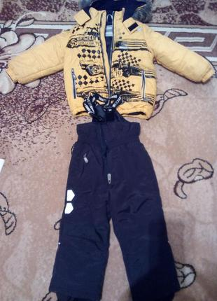Зимовий комплект lenne  куртка + штани на підтяжках