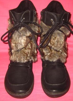 Фирменные кожаные демисезонные ботинки tamaris (оригинал) - 40 размер