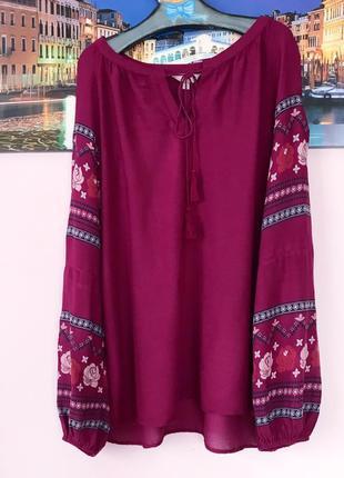 Натуральная блуза шикарного цвета