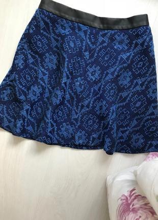 Жаккардовая гобеленовая юбка zara