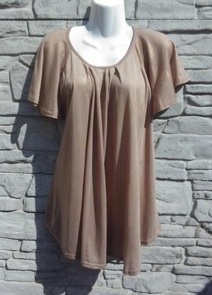 Красивая блуза-туника в золотистый принт