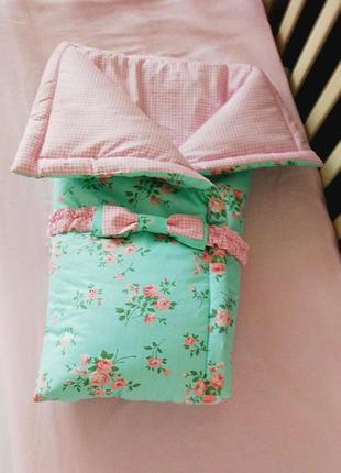 Детское одеяло-конверт shabby chic