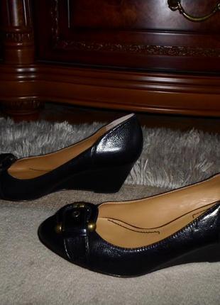Обалденные стильные бренд.туфли nine west,кожа,танкетка,америка