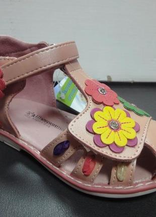 Ортопедические кожаные босоножки 20-22 р. шалунишка на девочку, сандалии, босоніжки