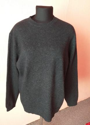 Мужская 100%шерстяная кофта свитер  раз.l наш 50/52
