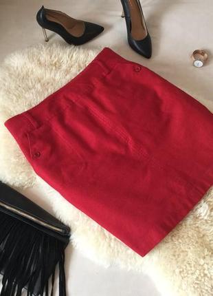 Шерстяная лёгонькая юбка на подкладке с кармашками!❣️мега стильная и крутая...💄👠💋