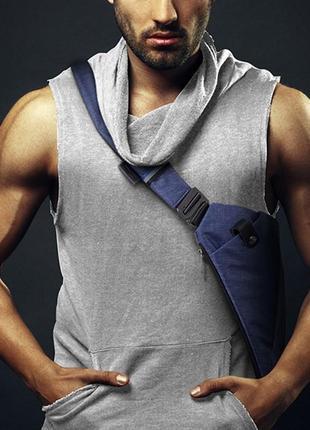 Мужская сумка через плече мессенджер cross body (кросс боди) blue