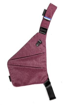 Мужская сумка через плече мессенджер cross body (кросс боди) красная
