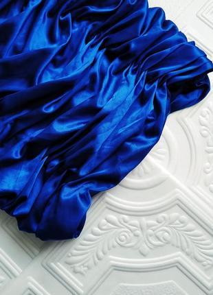 Короткое атласное вечернее платье бюстье ses exclusive, на выпускной3 фото