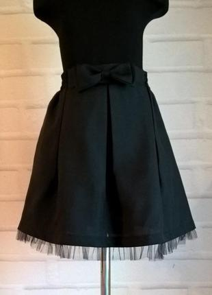 Черная юбка для девочек. школьная юбка. школьная форма. размеры 122-140