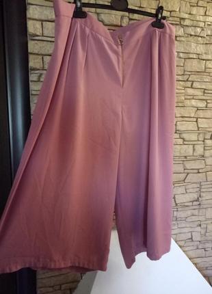 Юбка-брюки,кюлоты большого размера,цвет《пыльная роза》1 фото